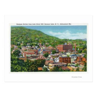 Opinión de la colina de la calle del lago de la tarjetas postales