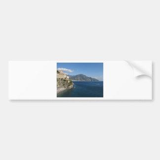Opinión de la costa de Amalfi hacia Majori Pegatina Para Auto