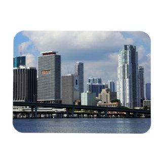 Opinión de la costa de Miami Imanes Rectangulares