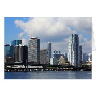 Opinión de la costa de Miami Tarjeta