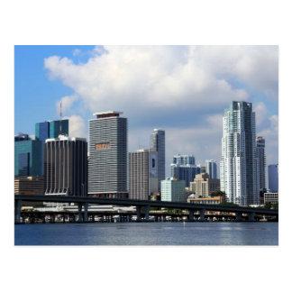 Opinión de la costa de Miami Tarjetas Postales