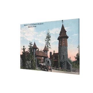 Opinión de la entrada de la residencia del portero impresiones en lienzo estiradas