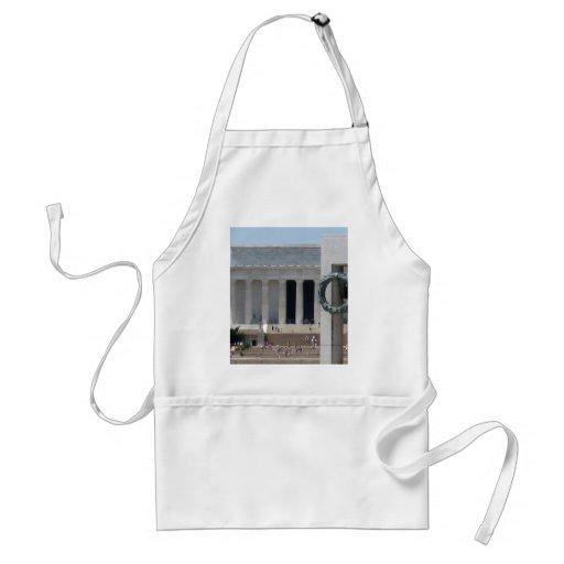 Opinión de la foto del Lincoln memorial de WWII me Delantal