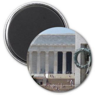 Opinión de la foto del Lincoln memorial de WWII me Imán Redondo 5 Cm