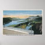 Opinión de la garganta del río Columbia del punto  Impresiones