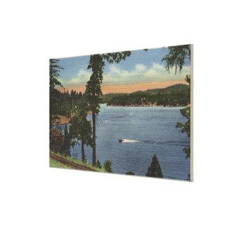 Opinión de la impulsión de la orilla del lago, cer impresiones de lienzo