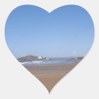 Opinión de la isla del municipio escocés de la pegatina en forma de corazón