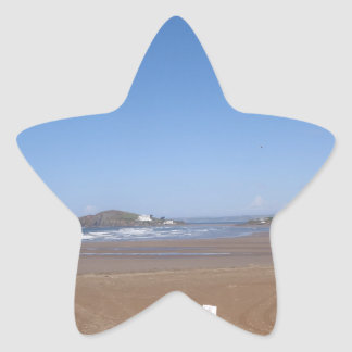 Opinión de la isla del municipio escocés de la pegatina en forma de estrella