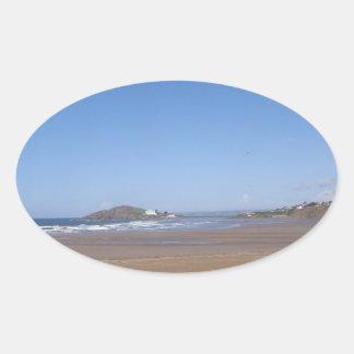 Opinión de la isla del municipio escocés de la pegatina ovalada