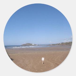 Opinión de la isla del municipio escocés de la pegatina redonda