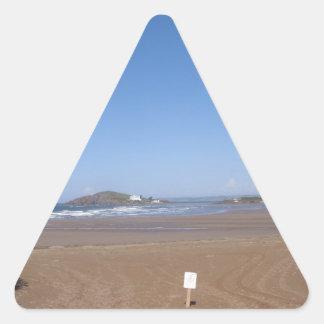 Opinión de la isla del municipio escocés de la pegatina triangular