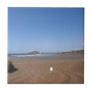 Opinión de la isla del municipio escocés de la pla azulejo cuadrado pequeño