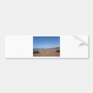 Opinión de la isla del municipio escocés de la pla pegatina de parachoque