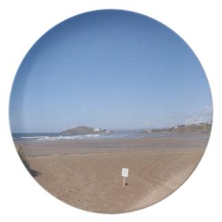 Opinión de la isla del municipio escocés de la pla platos para fiestas