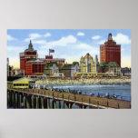 Opinión de la línea de la playa de Atlantic City N Poster