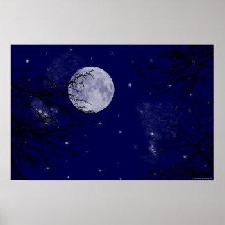 Opinión de la luna poster