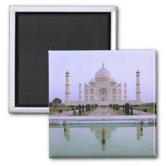 opinión de la madrugada del Taj Mahal reflejado ad Imán Cuadrado