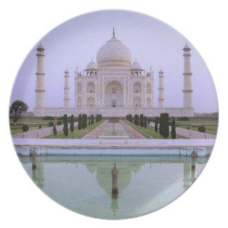 opinión de la madrugada del Taj Mahal reflejado ad Plato Para Fiesta