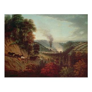Opinión de la mañana Coalbrookdale, 1777 Tarjetas Postales