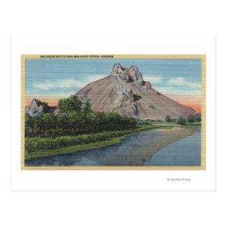 Opinión de la mota y del río de Malheur, Oregon Tarjetas Postales