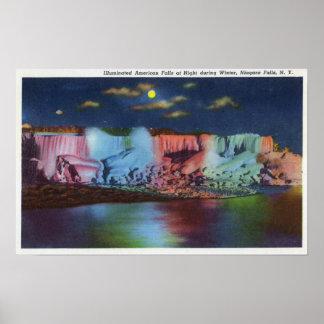 Opinión de la noche de la isla de Luna del nuevo p Posters