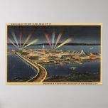 Opinión de la noche de la isla del tesoro, expo de posters
