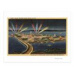 Opinión de la noche de la isla del tesoro, expo de tarjetas postales