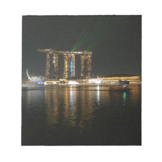 Opinión de la noche de Singapur Libretas Para Notas