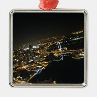 opinión de la noche de Singapur Ornamento De Navidad