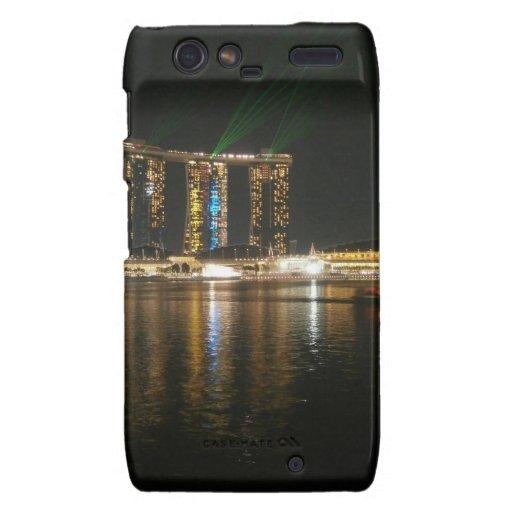 Opinión de la noche de Singapur Motorola Droid RAZR Funda
