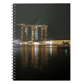 Opinión de la noche de Singapur Libros De Apuntes Con Espiral