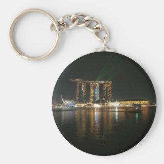 Opinión de la noche de Singapur Llaveros Personalizados