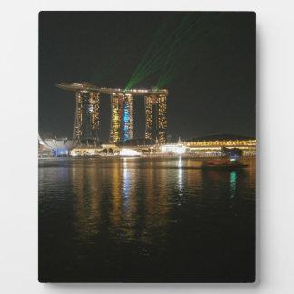 Opinión de la noche de Singapur Placas Con Fotos