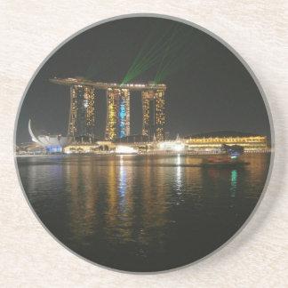 Opinión de la noche de Singapur Posavasos Manualidades