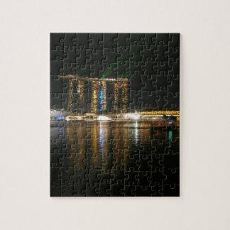 Opinión de la noche de Singapur Puzzles Con Fotos