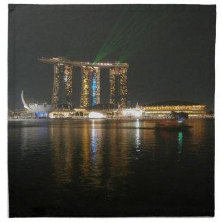 Opinión de la noche de Singapur Servilleta De Papel