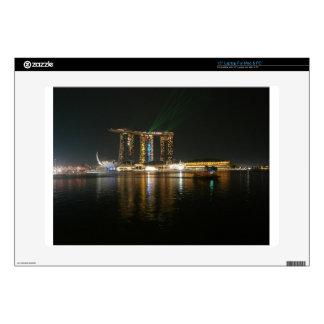 Opinión de la noche de Singapur Calcomanías Para 38,1cm Portátiles