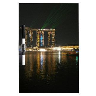 Opinión de la noche de Singapur Tablero Blanco