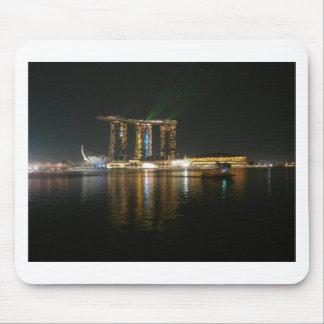 Opinión de la noche de Singapur Tapete De Ratón