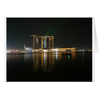 Opinión de la noche de Singapur Tarjetón