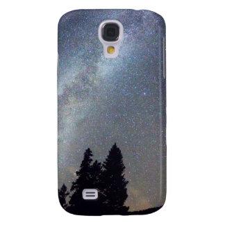 Opinión de la noche de Stary de la vía láctea de l Funda Para Galaxy S4
