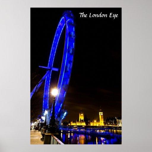 Opinión de la noche del ojo de Londres Poster