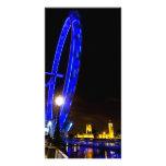 Opinión de la noche del ojo de Londres Tarjetas Con Fotos Personalizadas