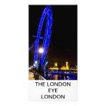 Opinión de la noche del ojo de Londres Tarjeta Fotografica Personalizada