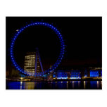 Opinión de la noche del ojo de Londres Tarjetas Postales
