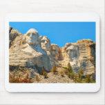 Opinión de la obra clásica del monte Rushmore Tapete De Ratón
