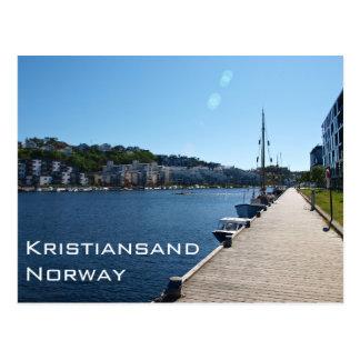 Opinión de la orilla en Kristiansand, Noruega Postales