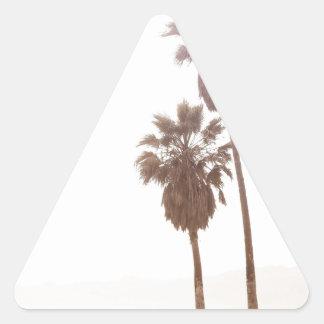 Opinión de la palma pegatina triangular