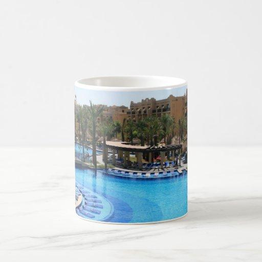 Opinión de la piscina de Cabo San Lucas México Tazas De Café
