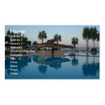 Opinión de la piscina plantillas de tarjetas de visita
